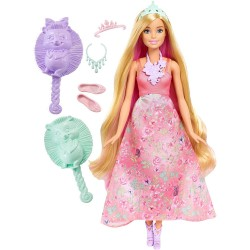 MATTEL DWH41 DWH42 - Barbie w Krainie Dreamtopia - KOLOROWE FRYZURY - BLONDYNKA