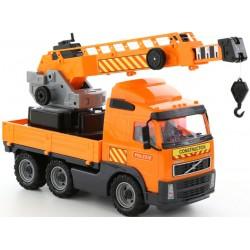 WADER - POLESIE 8824 - Pojazd Budowlany - POMARAŃCZOWY DŹWIG VOLVO