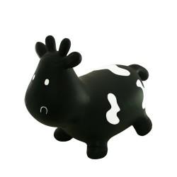 TOOTINY 1095 - Nadmuchiwany Skoczek - Jumping Cow - Skacząca Krówka - CZARNA CZARNUSZKA