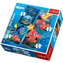 Trefl - 34142 - Puzzle 4 w 1 - Gdzie jest Nemo