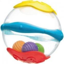 PLAYGRO 25155 - Przeźroczysta Plastikowa Piłka - KULA DO KĄPIELI
