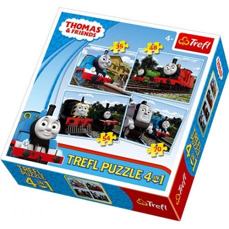 Trefl - 34101 - Puzzle 4 w 1 - Tomek i Przyjaciele