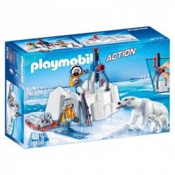 PLAYMOBIL 9056 Action - STRAŻNICY POLARNI Z NIEDŹWIEDZIEM POLARNYM
