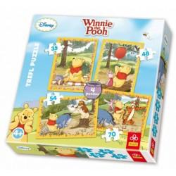 Trefl - 34062 - Puzzle 4 w 1 - Kubuś Puchatek