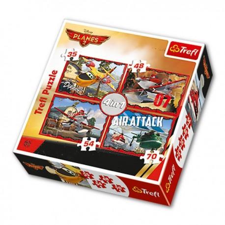 Trefl - 34230 - Puzzle 4 w 1 - Samoloty 2
