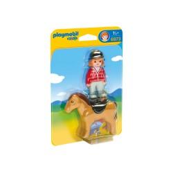 PLAYMOBIL 6973 Playmobil 1.2.3 - JEŹDZIEC Z KONIEM
