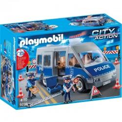 PLAYMOBIL 9236 City Action - SAMOCHÓD POLICYJNY Z BLOKADĄ DROGOWĄ