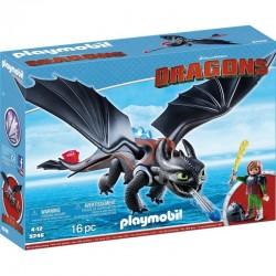 PLAYMOBIL 9246 Dragons - Jak Wytresować Smoka - CZKAWKA I SZCZERBATEK