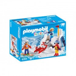 PLAYMOBIL 9283 Family Fun - BITWA NA ŚNIEŻKI