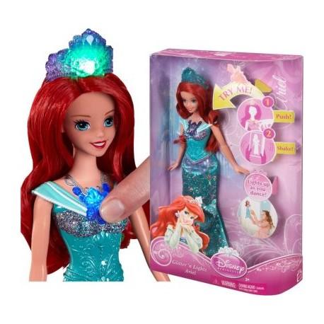 Mattel - BDJ25 - Disney Princess - Świecące Klejnoty - Arielka