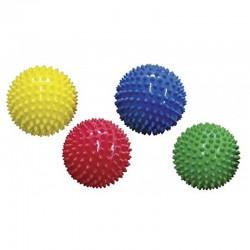 EDUSHAPE 705174 - Zestaw Gumowych Piłek Sensorycznych 10 cm - ŚREDNIE JEŻYKI