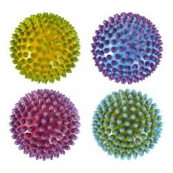 EDUSHAPE 715174 - Zestaw Gumowych Piłek Sensorycznych 10 cm - ŚREDNIE TĘCZOWE JEŻYKI