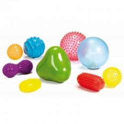 EDUSHAPE 705199 - Zestaw Gumowych Zabawek Sensorycznych - JEŻYKI I TURLAKI