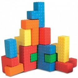 EDUSHAPE 716167 - Miękkie Puzzle Sensoryczne - KOLOROWE BLOKI