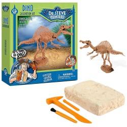 GEOWORLD CL1668K - Wyprawa Paleontologiczna Dr. Steve Hunters - Wykopaliska Dinozaurów 14 el. - SPINOSAURUS