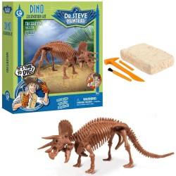 GEOWORLD CL1666K - Wyprawa Paleontologiczna Dr. Steve Hunters - Wykopaliska Dinozaurów 13 el. - TRICERATOPS