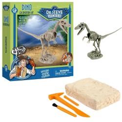 GEOWORLD CL1664K - Wyprawa Paleontologiczna Dr. Steve Hunters - Wykopaliska Dinozaurów 14 el. - VELOCIRAPTOR