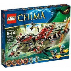 LEGO CHIMA 70006 Krokodyla Łódź Craggera
