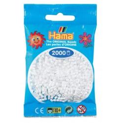 Hama - Mini - 50101- Koraliki Białe - Zestaw Uzupełniający 2000 szt.