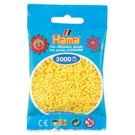 Hama - Mini - 50103- Koraliki Żółte - Zestaw Uzupełniający 2000 szt.