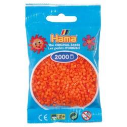 Hama - Mini - 50104- Koraliki Pomarańczowe - Zestaw Uzupełniający 2000 szt.