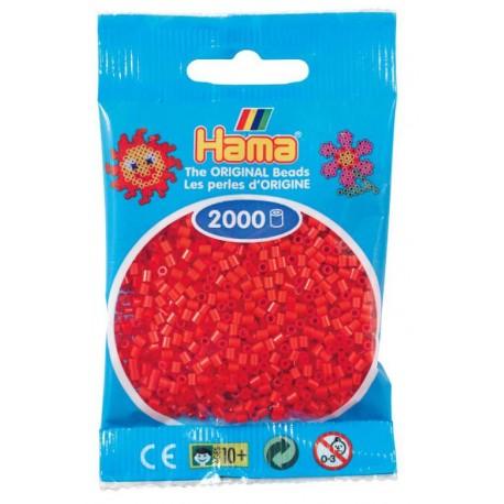 Hama - Mini - 50105- Koraliki Czerwone - Zestaw Uzupełniający 2000 szt.
