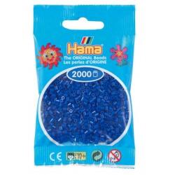 Hama - Mini - 50108- Koraliki Niebieskie- Zestaw Uzupełniający 2000 szt.