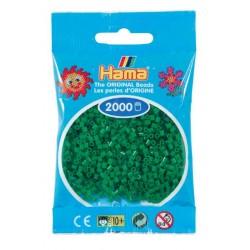 Hama - Mini - 50110 - Koraliki Zielone- Zestaw Uzupełniający 2000 szt.