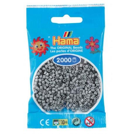 Hama - Mini - 50117- Koraliki Szare- Zestaw Uzupełniający 2000 szt.