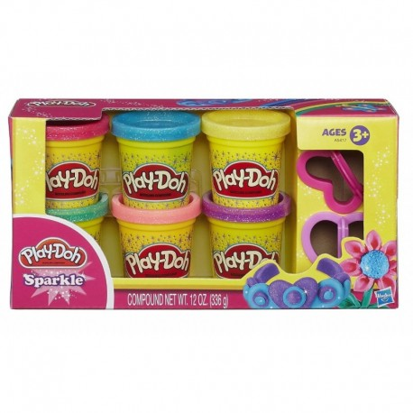 Ciastolina Play-Doh - A5417 - Błyszczące Tuby - 6 Tub