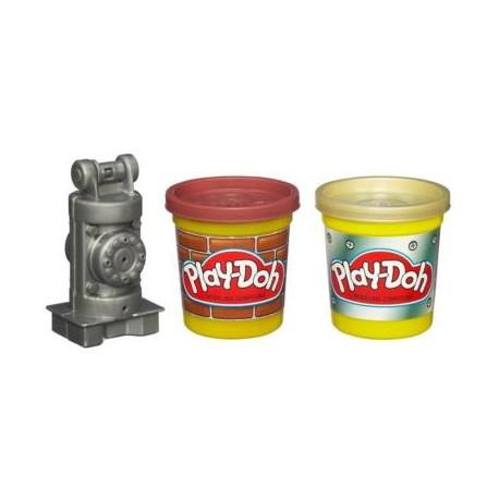 Ciastolina Play-Doh - 49386 - Tuby budowlane - Cegła i Metal