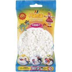 Hama - Midi - 20701 - Koraliki Białe - Zestaw Uzupełniający 1000 szt