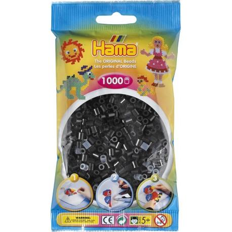 Hama - Midi - 20718 - Koraliki Czarne - Zestaw Uzupełniający 1000 szt.