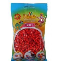 Hama - Midi - 20705 - Koraliki Czerwone - Zestaw Uzupełniający 1000 szt.