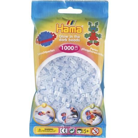 Hama - Midi - 20757 - Niebieskie Koraliki Świecące w ciemności - Zestaw Uzupełniający 1000 szt