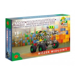 Alexander - 11050 - Klocki Konstrukcyjne - Mały Konstruktor - Wózek Widłowy