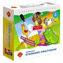 Alexander - Gra Edukacyjna - Rysowanie - Zmazywanie - Zwierzątka 7411