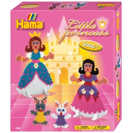 Hama - Midi - 3230 - Koraliki Kolorowe - Zestaw Małe Księżniczki 3000 szt.