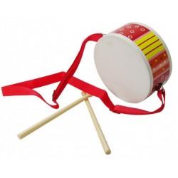 BIGJIGS TOYS BJ189 - Drewniany Instrument Muzyczny - BĘBENEK