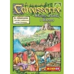 Mindok - 65935 - Gra Carcassonne: Dodatek 8. Mosty, Zamki i Bazary
