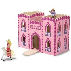 Melissa & Doug - 13708 - Drewniany Zamek Rozkładany - Różowy