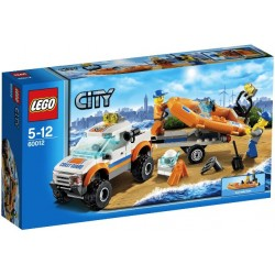 LEGO CITY 60012 Samochód Terenowy i Łódź