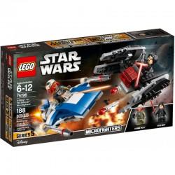 LEGO STAR WARS 75196 A-Wing Kontra TIE Silencer - NOWOŚĆ 2018