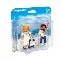 PLAYMOBIL 9216 Duo Pack - STEWARDESA I OFICER