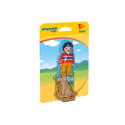 PLAYMOBIL 9256 Playmobil 1.2.3 - MĘŻCZYZNA Z PSEM