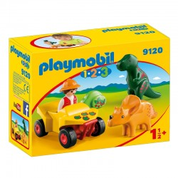 PLAYMOBIL 9120 Playmobil 1.2.3 - BADACZ DINOZAURÓW Z QUADEM