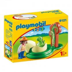 PLAYMOBIL 9121 Playmobil 1.2.3 - MAŁY DINOZAUR W JAJKU