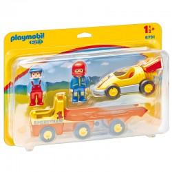 PLAYMOBIL 6761 Playmobil 1.2.3 - WYŚCIGÓWKA Z LAWETĄ