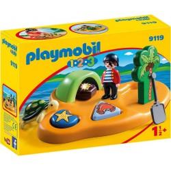 PLAYMOBIL 9119 Playmobil 1.2.3 - WYSPA PIRACKA