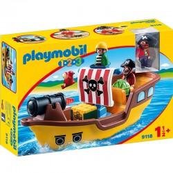 PLAYMOBIL 9118 Playmobil 1.2.3 - PIRACKI OKRĘT Z FIGURKAMI